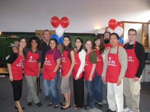 Bulldog Pantry volunteers pose for a picture at the Open House